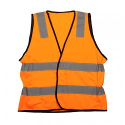 Vic Rail Elasticised Safety Vest with Tail