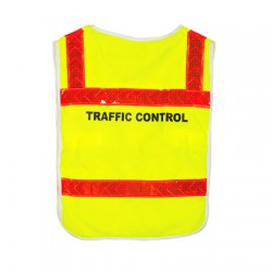 QLD Traffic Control Poncho with Orange Reflective Tape