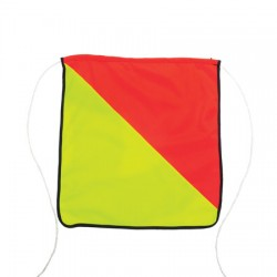 Vehicle & Truck Oversize Load - Fabric Flags with Rope