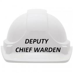 Deputy Chief Warden Hard Hat