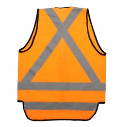 NSW Rail X-Back Safety Vest with Tail