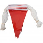Red and White Safety Bunting Flags